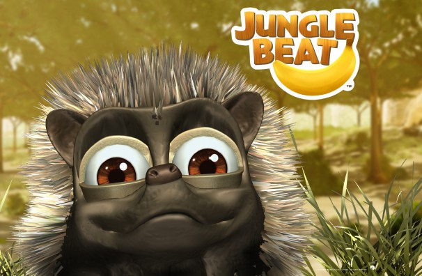 Free Downloadable Jungle Beat wallpaper of CGI Character Hedgehog in close-up